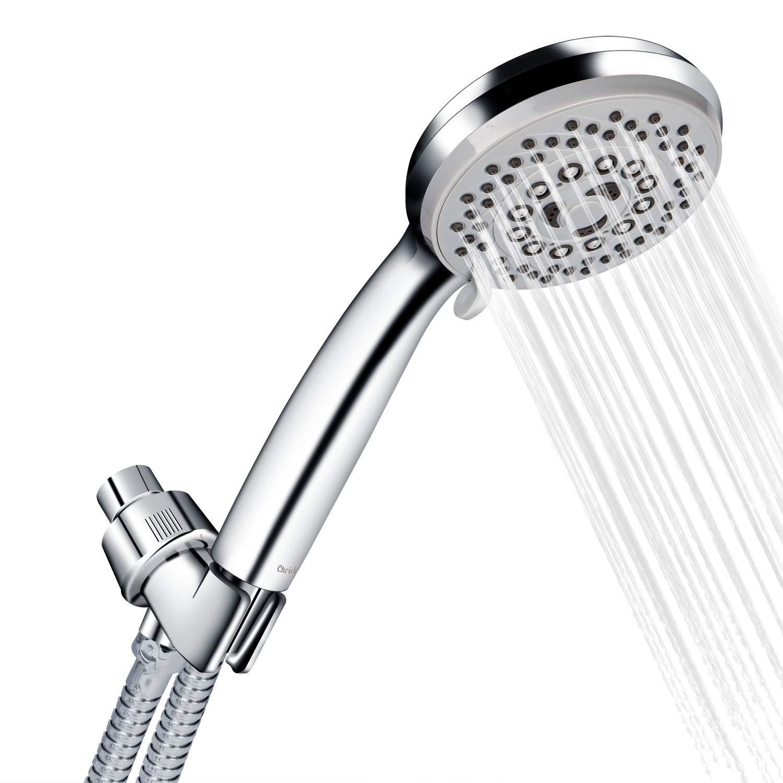 Cabezal ducha eléctrica Calentador agua instantáneo Soporte manguera baño