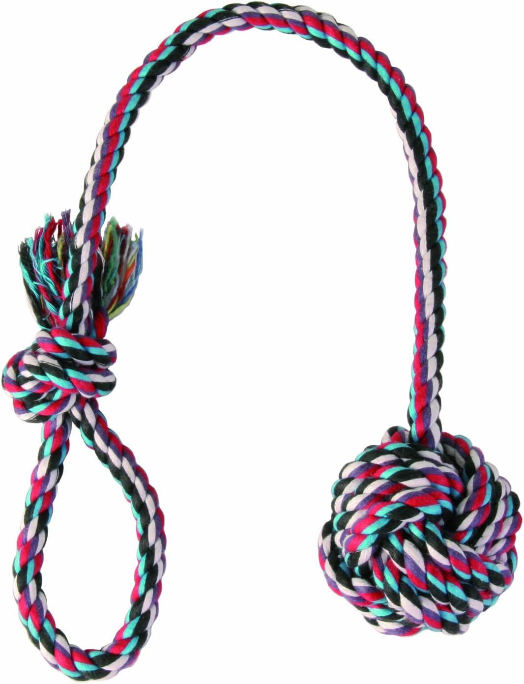 Trixie Cuerda de Juego con Bola, ø7 cm, 50 cm