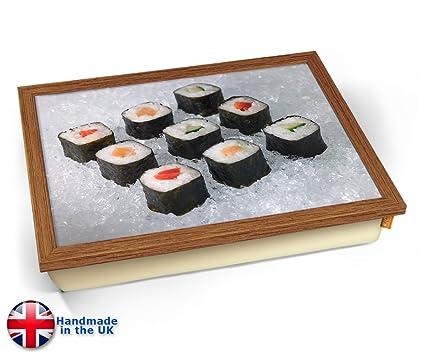 KICO Sushi - Bandeja para envolver alimentos japoneses, Wood Effect Frame, 45cm (l