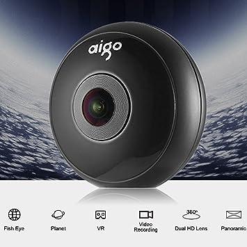 Cámara 360, Aigo Cámara VR 360 Con Cuatro Efectos de Lente y USB tipo C