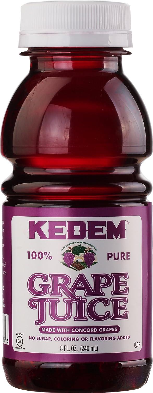 Kedem Concord Grape Juice, 8oz Plastic Bottle (24 Pack)