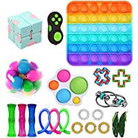 Fidget Toys Set, Fidget Toy Pack for Adults and Kids, Sensory Toys, Push pop Bubble, Figetget Toys Pack for Stress and…