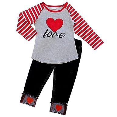 Amazon Com So Sydney Toddler Girls 2 Pc Valentine S Day Love Heart