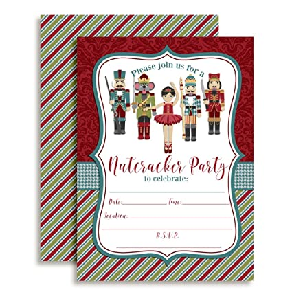 amazon com nutcracker ballet birthday party invitations ten 5 x7