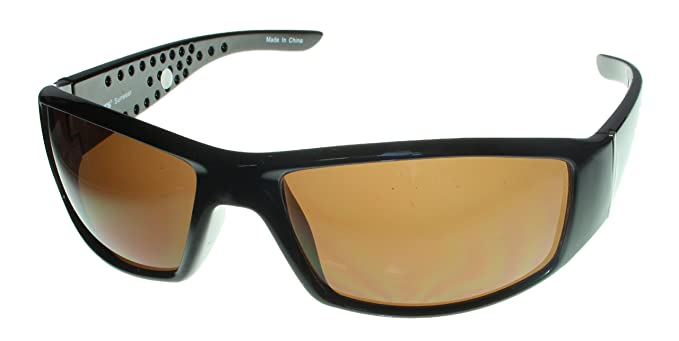 a1c687000f Image Unavailable. Image not available for. Color  Levi Shiny Brown Mens  Rectangle Wrap Plastic Sunglass LS 163 1