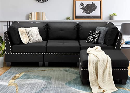 Esright 88.6 Convertible Sectional Sofa Couch