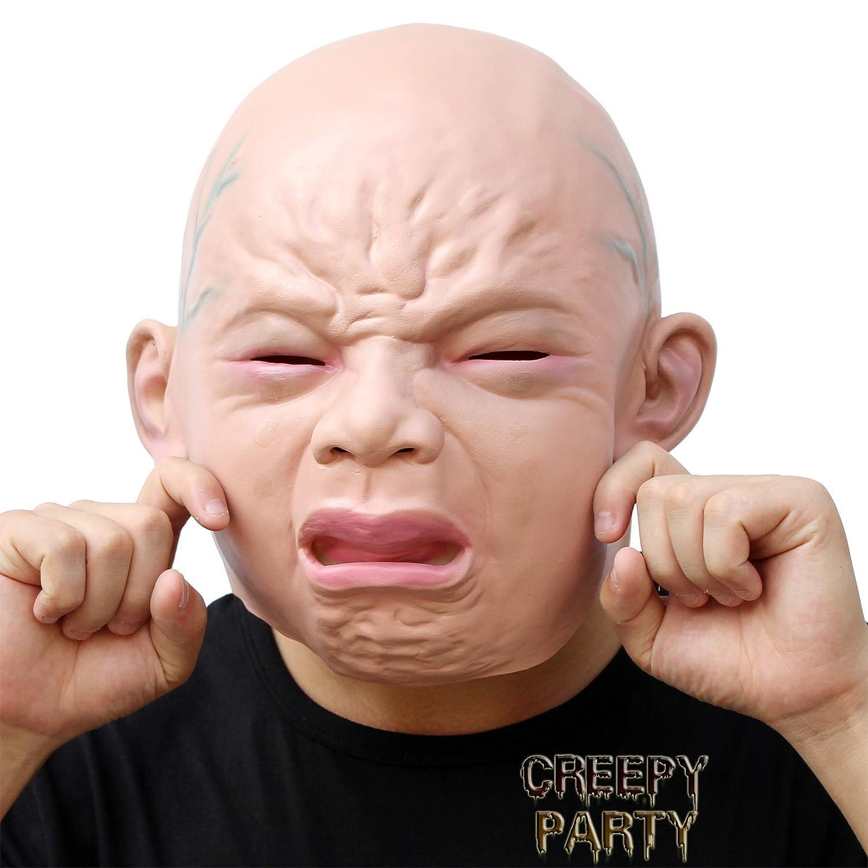 OM(TM) Halloween Creepy Realistic UFO Alien Head Mask Latex ...