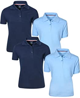4 Pack French Toast Girls Uniform Polo Short Sleeve Interlock