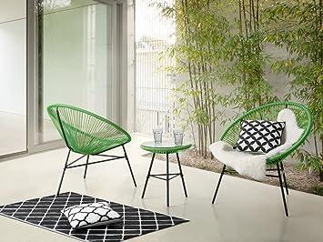 Beliani Gartenmöbel Set Kunststoff Grün Acapulco: Beliani: Amazon