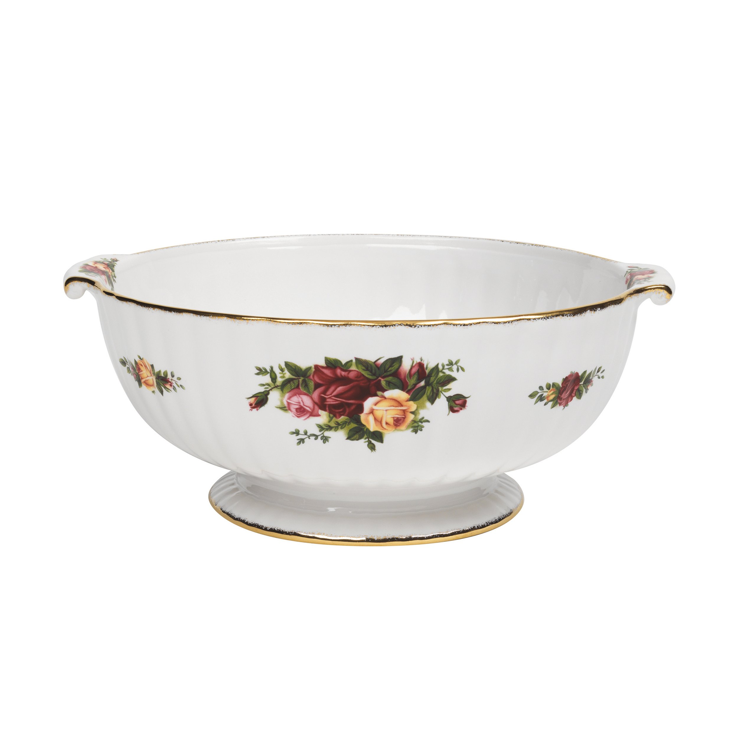 Royal Albert Old Country Roses 9-inch Fluted Serving Bowl