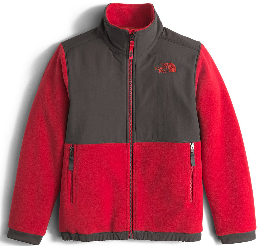 The North Face Denali Jacket Boys' Graphite Grey/TNF Red Small by The North Face