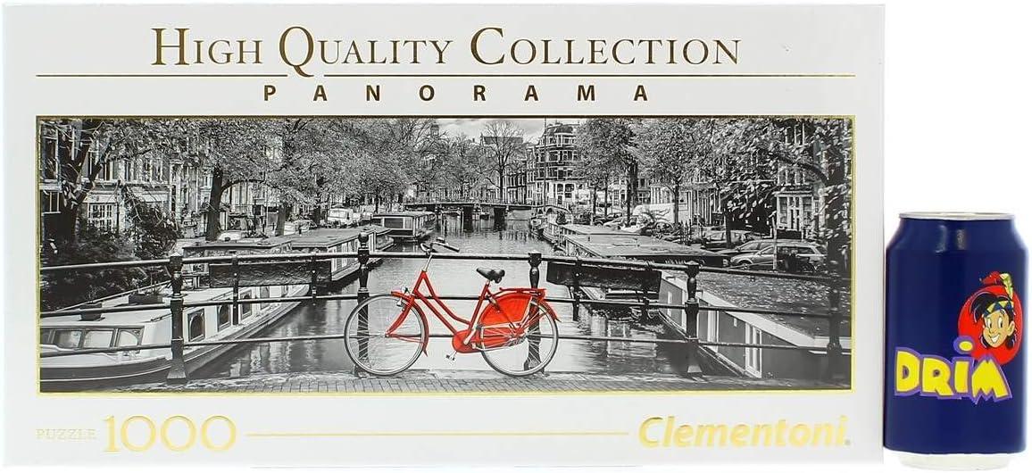 Clementoni- Puzzle 1000 Piezas Panorama Amsterdam - Bicicleta ...