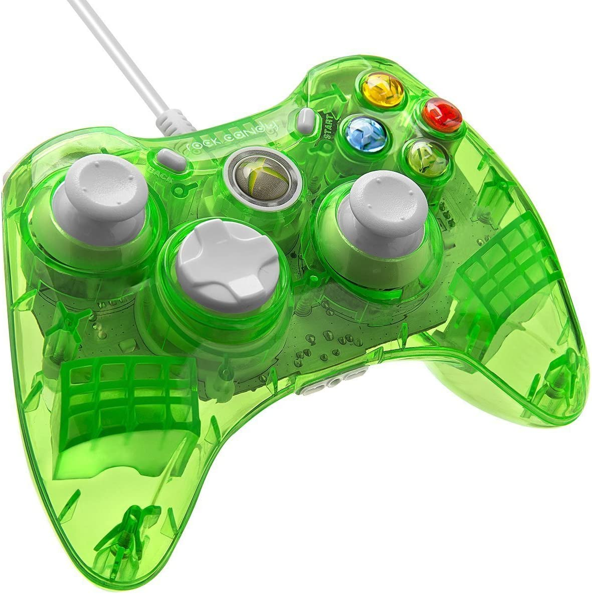 Amazon com: PDP Rock Candy Wired Controller for Xbox 360 - Aqualime