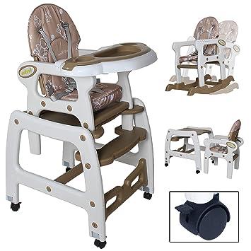 Seelux Beweglicher 3 En 1 Multi Chaise Haute Pour Enfant Avec Fonction Balanoire Roues
