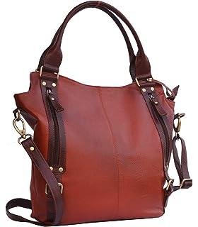 Musqari s multipurpose stylish large leather handbags for women cum  shoulderbag cum cross body sling bag ( 9491157976