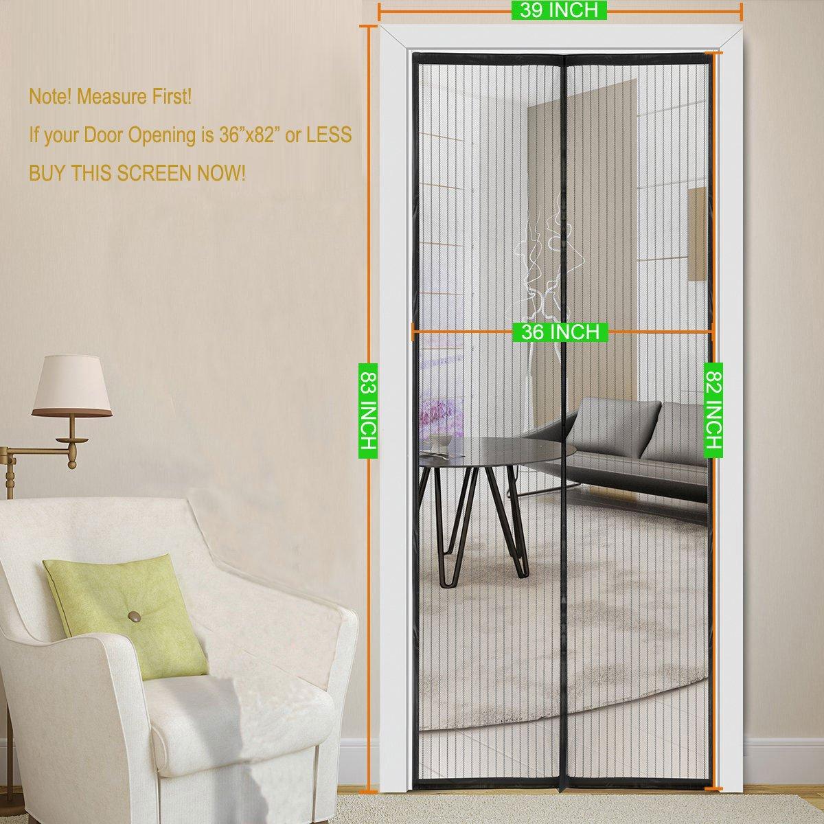 Amazon Magnetic Screen Door 39x83fits Doors Opening 36x82