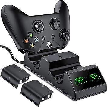 Amazon.com: Xbox One - Cargador de carga dual con 2 baterías ...