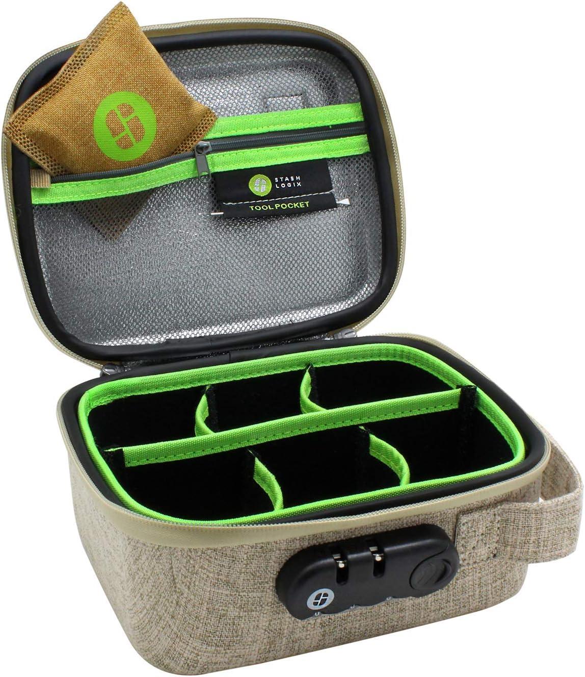 Bloqueo Stash bolsa con control de olores Peque/ña Bronceado Stashlogix Silverton