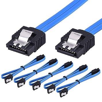 Cable SATA III, Paquete de 10 Cables SATA III de 6 Gbps, Cable de ...