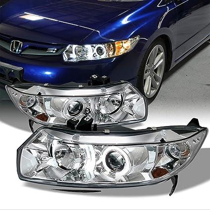 Honda Civic 2 puertas Coupe cromado claro doble Halo anillo ...