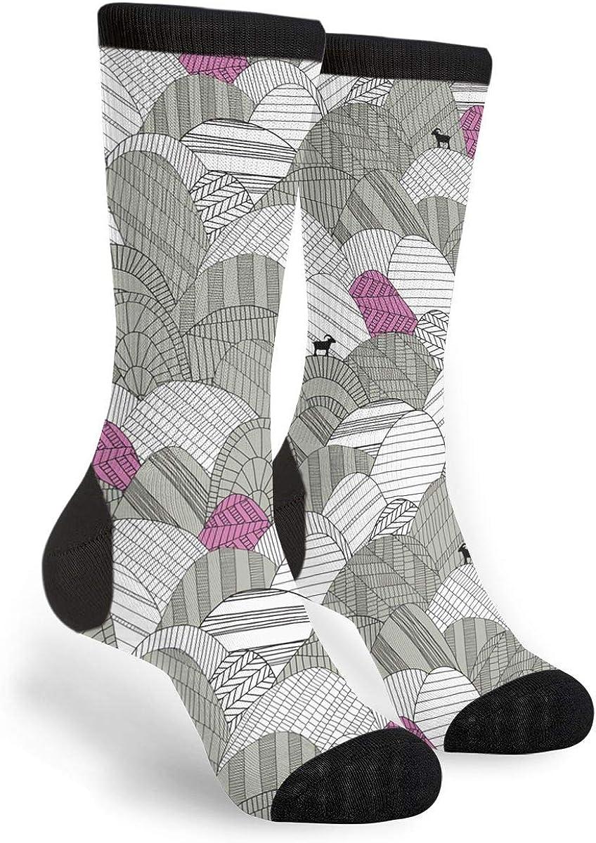 Fashion Travel Breathable Socks The Hilly Billy Goat Men /& Women Running Casual Socks