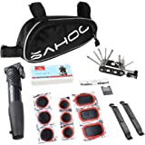 Sahoo® Bicycle Bike Tyre 14 in 1 Multi-use Repair Tools Kits Bag with Mini Pump