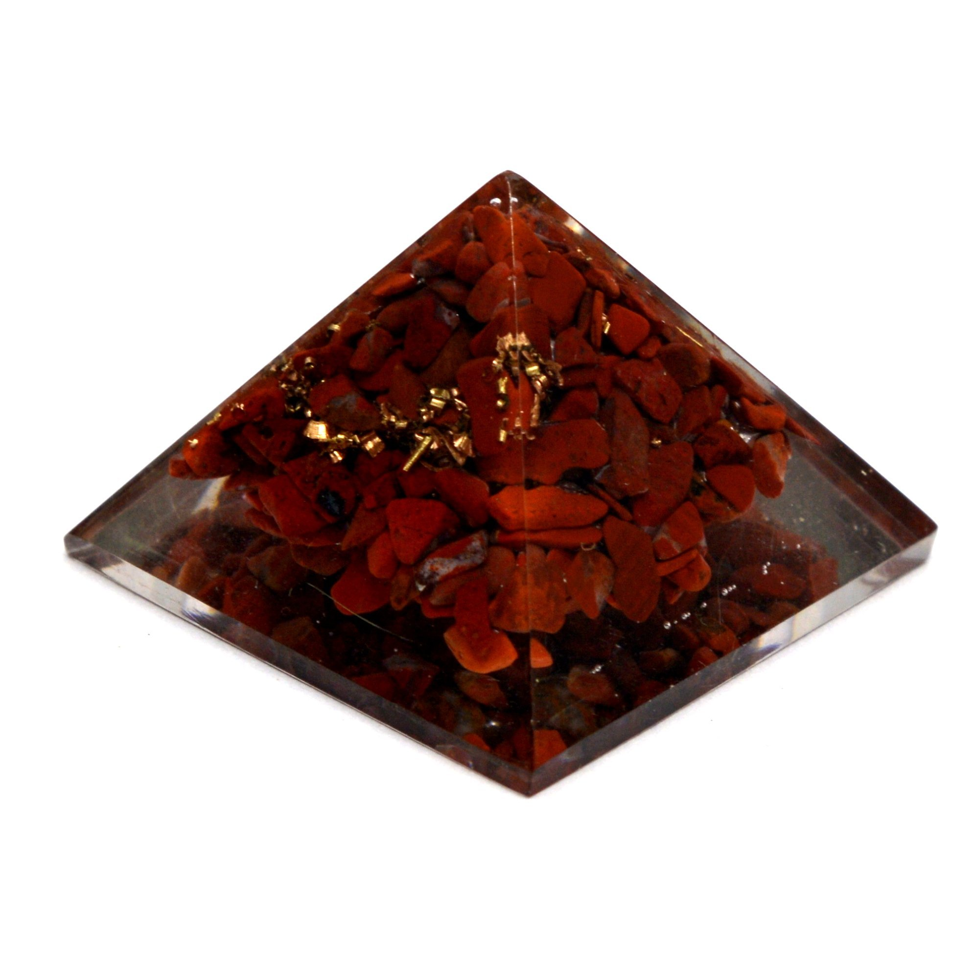 Healing Crystals India Reiki Healing Energy Charged Red Jasper Crystal Chip Orgone Pyramid