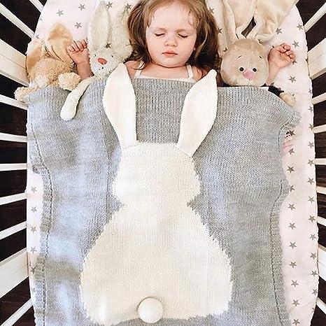 Manta de Bebé Unisex Manta suave tejido de punto para Recién Nacidos ...