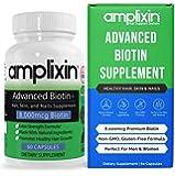 Amplixin Advanced+ Biotin Supplement - Hair Vitamins For Faster Hair Growth, Stronger Nails & Clearer Skin - Hair Loss…