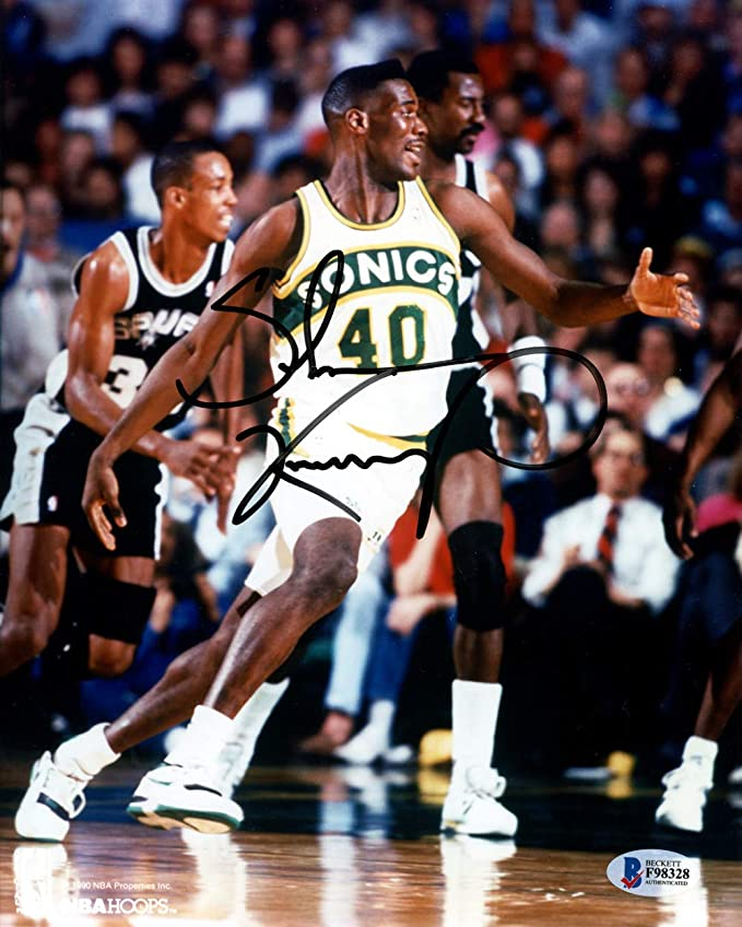 dc229dafd7d38 Shawn Kemp Signed Auto 8x10 Photo Seattle Sonics - Beckett Authentic ...