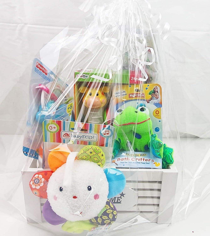 Geschenkkorb Welcome Baby Geschenk Unisex zur Geburt oder Taufe Klein