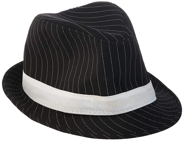 e4908feafd3 Amazon.com: Loftus International Loftus 1920S Gangster Mob Boss Costume Pinstripe  Fedora, Black White, One Size Novelty Item: Toys & Games