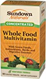 Sundown Naturals Whole Foods Concentrate Multivitamin Formula, 90 Coated Tablets