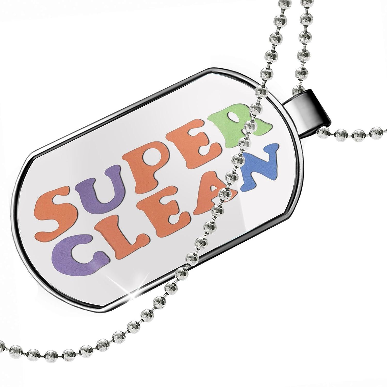 NEONBLOND Personalized Name Engraved Super Clean Kitchen Sponge Design Dogtag Necklace
