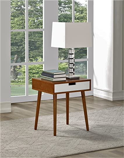 8250bcbde91 Image Unavailable. Image not available for. Color  Walnut Color Hardwood End  Side Table Nightstand with Drawer ...