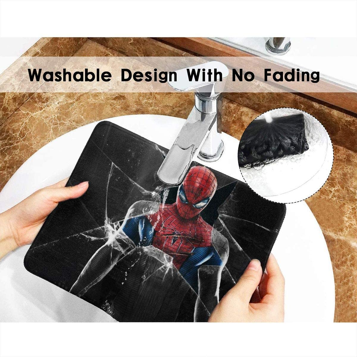 Spiderman Mouse Pad Mouse Mat with Stitched Edge Non-Slip Rubber Base Large Mouse Pads for Laptops Computers and PCs 12 X 10 X 0.12 Inches
