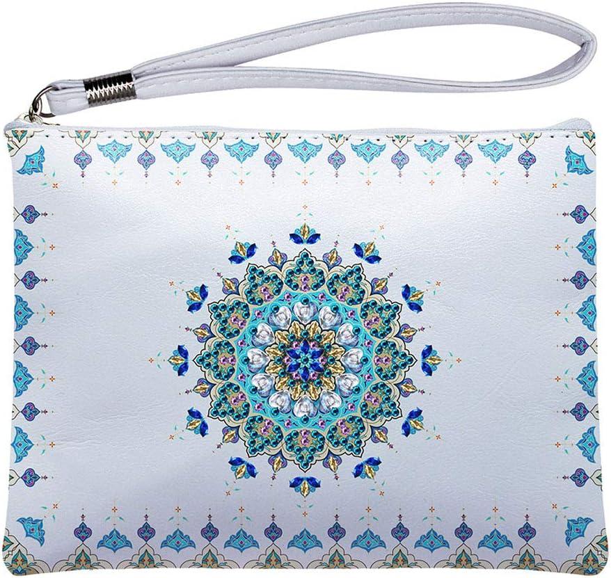Haijun 5d Diamant Painting Diamond Painting Damen Leder Clutch Wristlet Wallet Mit Strass Malerei Handtasche Handtasche Tasche