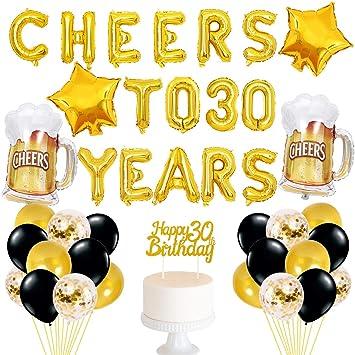 Amazon.com: Decoración de 30 cumpleaños para animar a 30 ...