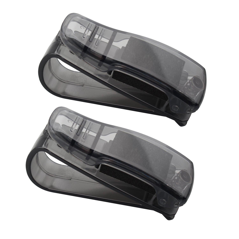 Futheda 2pcs Car Glasses Holder Sunglass Holder with Ticket Card Clip Auto Vehicle Accessories Sun Visor Clip Eyeglasses Holder