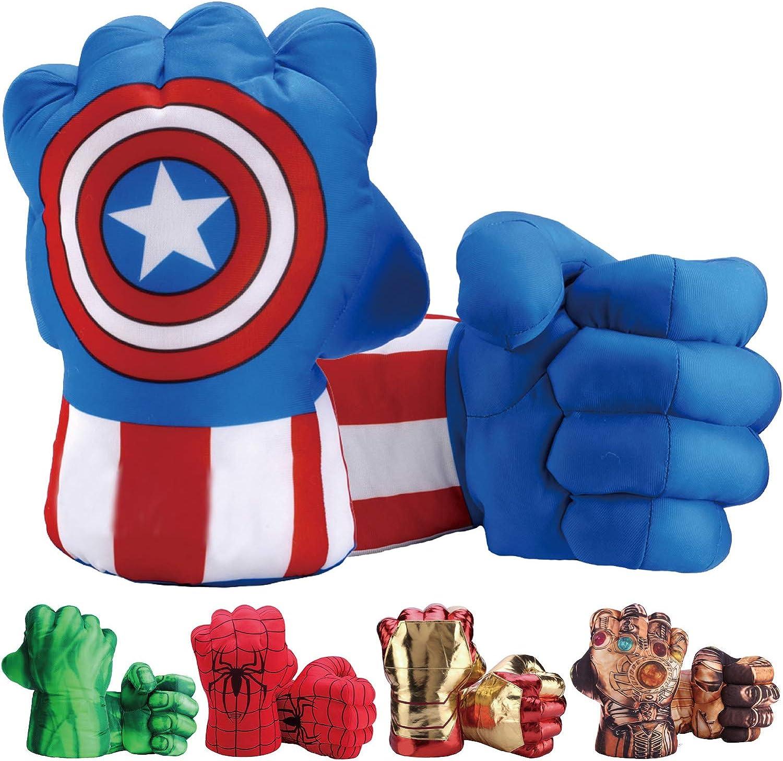 Adult/'s The Avengers Captain America Super Hero Costume Gloves
