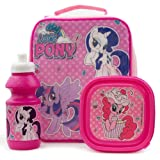 My Little Pony 4105V-6489 3 Piece Set (Insukated Cooler Lunch Bag, Sandwich Box and 350ml Sports Bottle)