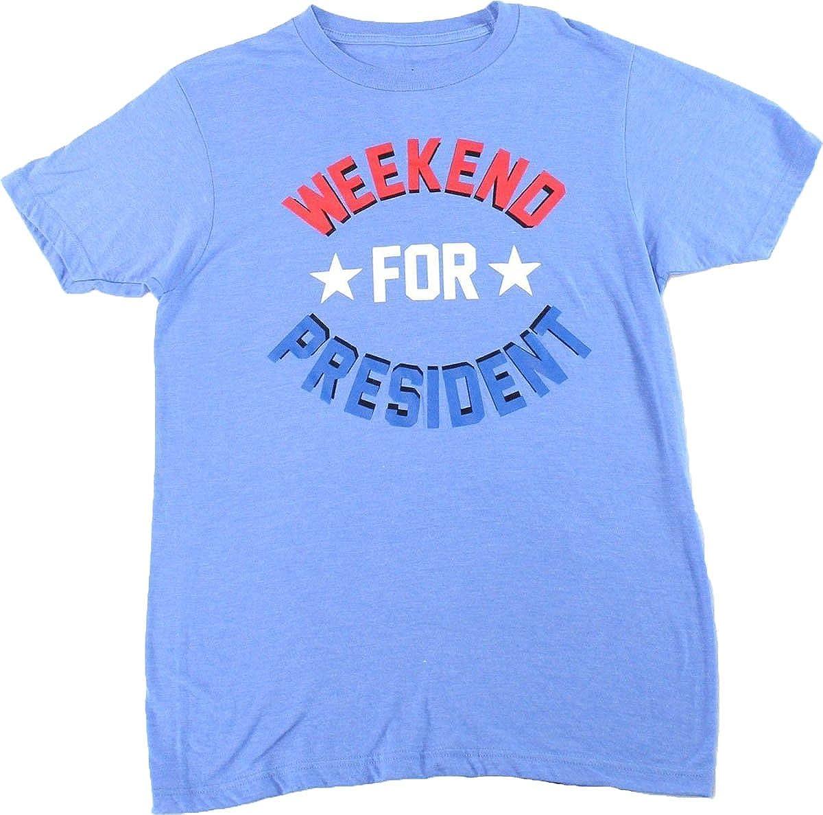Jem Mens Weekend President Graphic T-Shirt Blue