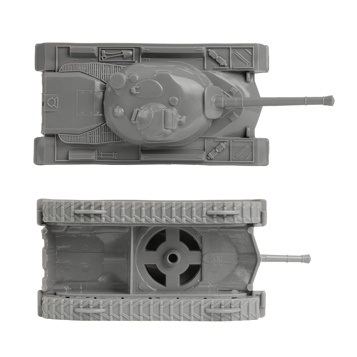 Gray WW2 3pc TimMee Toy Tanks for Plastic Army Men Made in USA