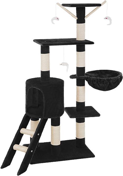 TecTake Rascador Árbol para Gatos (Negro   no. 401435): Amazon.es ...