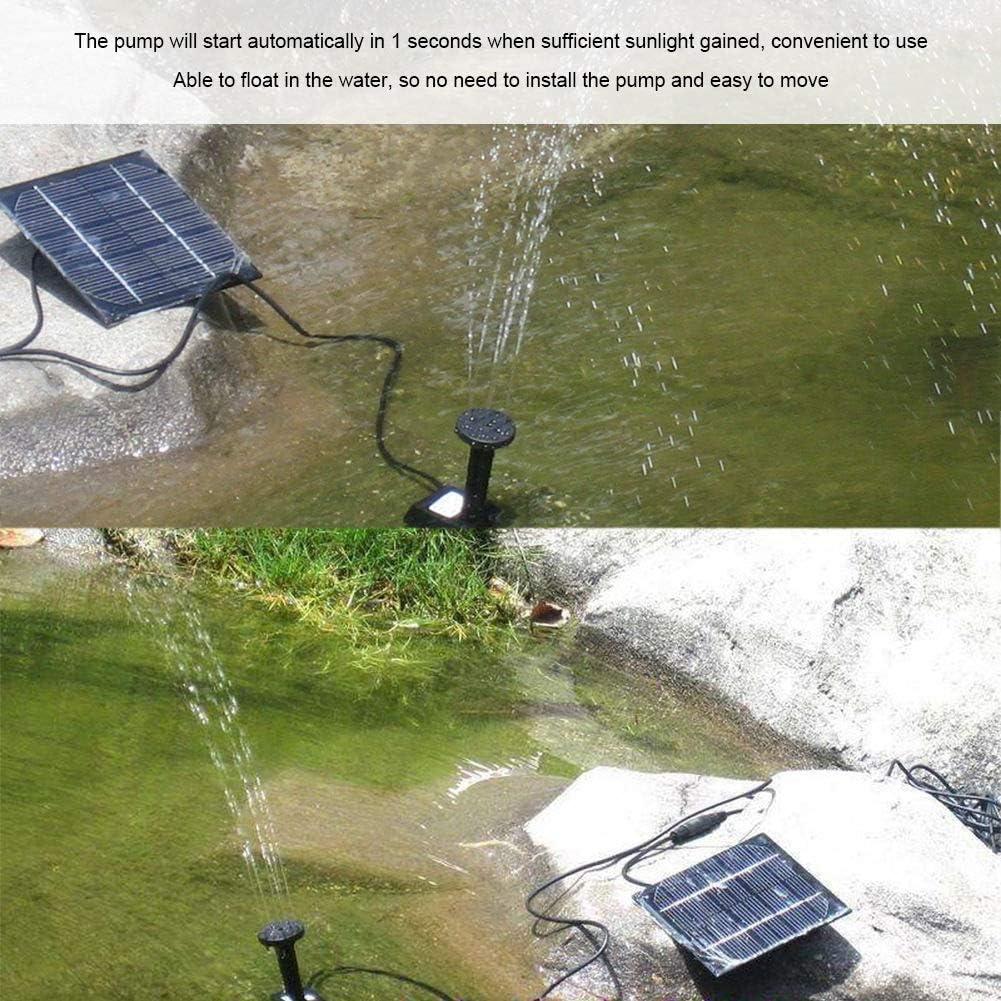KSTE Pool-Pumpe Solarstrom Schwimm Brunnen Wasserpumpe for Garten-Teich-Lache-Fisch-Beh/älter.