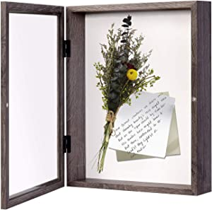 EDGEWOOD Front Opening Shadow Box Display Frame Case for Memorabilia, Pins, Awards, Medals, Tickets and Photos, 3 Inches Depth, 11×14 Inches