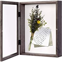 EDGEWOOD Front Opening Shadow Box Display Frame Case for Memorabilia, Pins, Awards, Medals, Tickets and Photos, 3 Inches…