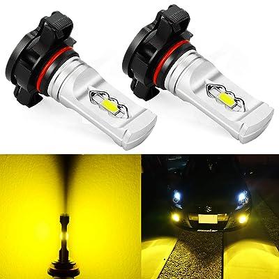 JDM ASTAR Super Bright High Power 2504 PSX24W LED Fog Light Bulbs, Golden Yellow: Automotive