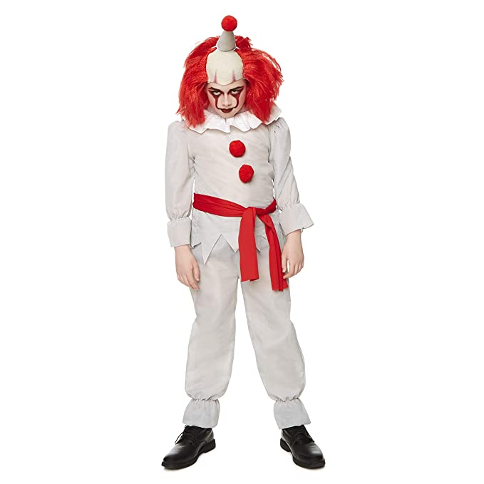 Amazon.com: Killer Clown Costume   Halloween Kids Scary Horror Evil Villain  Outfit, Large: Clothing