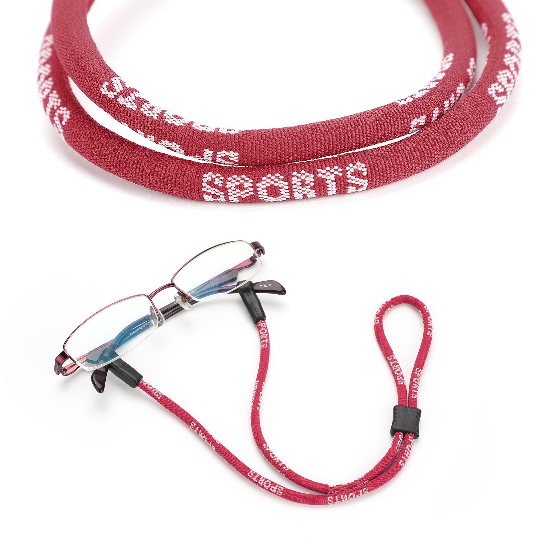 Hifot Sport Eyeglasses Strap 4 Pack Eyeglass Cord Lanyard Holder with Glasses Cleaning Cloth Adjustable Sunglasses Holder Strap Eyewear Retainer